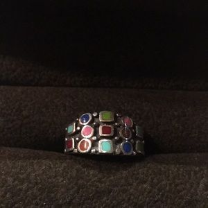 Jewelry - Sterling silver ring 7.5 multicolor settings